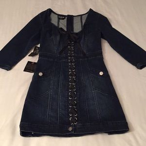 Beautiful Denim Dress from bebe NWT 💙